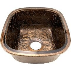 """14-1/8"""" W x 15-3/4"""" L Cobalt Copper Undermount Kitchen Sink"""