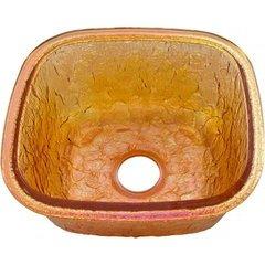 """14-1/8"""" W x 15-3/4"""" L Gold Reflections Undermount Kitchen Sink"""