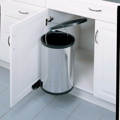 Single Trash Pullout 15 Litre-Stainless Steel