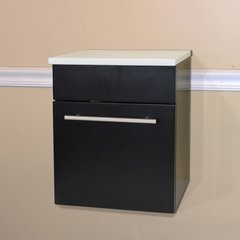 "15"" Wall Mount Cabinet - Black/White Top"