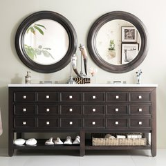 "69"" Victoria Double Vanity w/ Snow White Top-Espresso Oak"