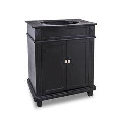 "28"" Douglas Single Sink Cabinet Only - w/o Top - Black"