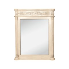 "33-11/16"" x 42"" Wall Mount Mirror - Antique White"