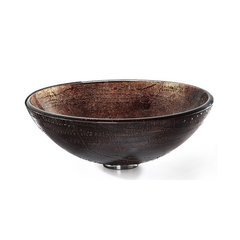 "16"" Copper Illusion Vessel Bathroom Sink - Multicolor Glass"