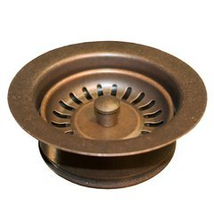 "3-1/2"" Basket Strainer Drain w/Disposer Trim- Weather Copper"