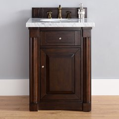 "26"" New Haven 26"" Single Vanity w/ ABS Black Top-Burn Mahog"