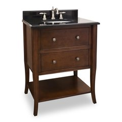 "28"" Philadelphia Classic Single Sink Vanity - Chocolate"