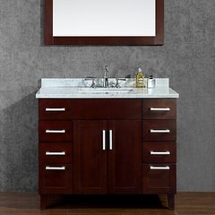 "42"" Frampton Single Sink Bathroom Vanity - Walnut"