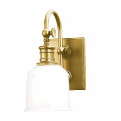 Keswick 1 Light Bathroom Sconce - Aged Brass