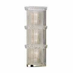 Blythe 3 Light Bathroom Sconce - Polished Nickel