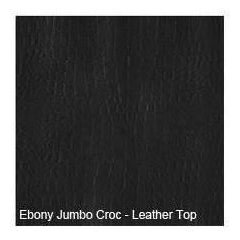 "36"" Leather Vanity Top Only Ebony Jumbo Croc"
