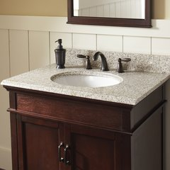 """25"""" x 22"""" Single Bowl Vanity Top Only w/Basin - Golden Hill"""