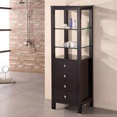 """60"""" Espresso Linen Cabinet - Espresso"""