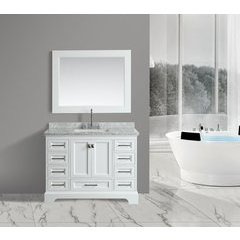 "48"" Omega Single Sink Bathroom Vanity Set-White"