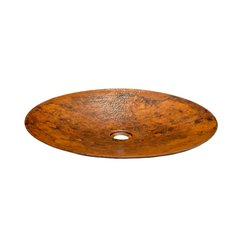 "19-1/2"" Round Maestro Mandala Vessel Sink - Tempered Copper"