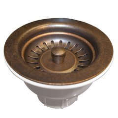 "3-1/2"" Round Basket Strainer - Weathered Copper"