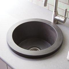 "16"" x 16"" Olivos Universal Mount Bar Sink - Slate"