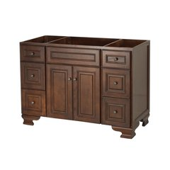 "48"" Hawthorne Cabinet Only w/o Top - Dark Walnut"