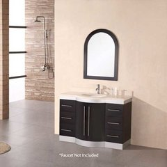 "48"" Jade Single Sink Bathroom Vanity - Espresso"