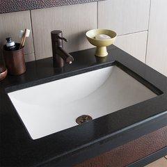 "20"" x14"" Cabrillo Universal Mount Bathroom Sink - Pearl"