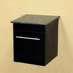"15"" Wall Mount Cabinet - Black/Black Top"