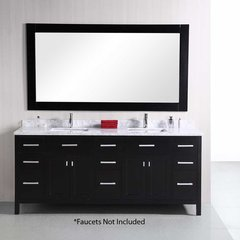"78"" London Double Sink Bathroom Vanity - Espresso"
