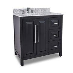 """36"""" Cade Contempo Single Sink Bathroom Vanity - Black"""