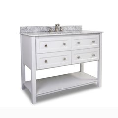 "48"" Adler Single Sink Bathroom Vanity - White"
