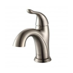 Arcus Single Hole Bathroom Faucet - Satin Nickel