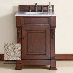 "26"" Brookfield Single Vanity w/ Santa Cecilia Top-Wrm Cherry"