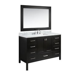 "54"" London Single Sink Bathroom Vanity - Espresso"