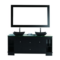 "60"" Oasis Double Sink Bathroom Vanity - Espresso"