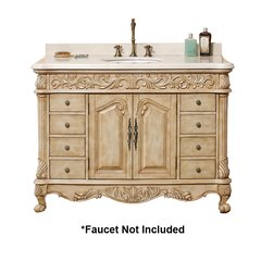 "48"" Monte Carlo Single Sink Vanity - Parchment/Marble Top"