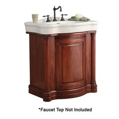 "30"" Wingate Single Sink Bathroom Vanity - Deep Cherry"