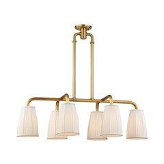 Malden 6 Light Island Light - Aged Brass <small>(#6066-AGB)</small>