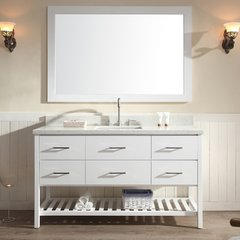 "61"" Shakespeare Single Sink Bathroom Vanity - White"