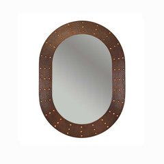"35""x26"" Oval Copper Wall Mount Mirror - Oil Rubbed Bronze"