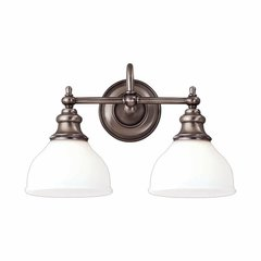 Sutton 2 Light Bathroom Vanity Light - Antique Nickel