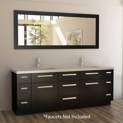 "84"" Moscony Double Sink Bathroom Vanity - Espresso"