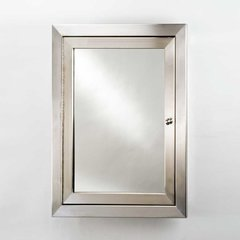 "Metro 20"" Mirrored Medicine Cabinet - Satin Stainless"
