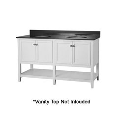 """60"""" Auguste Cabinet Only w/o Top - White"""