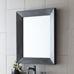"33"" x 29"" Portola Wall Mount Mirror - Slate"