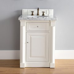 "26"" New Haven Single Vanity w/ Galala Beige Top-Cott White"