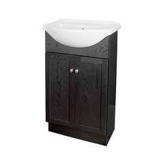"22"" Columbia Single Sink Euro Bathroom Vanity - Black"