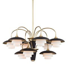 Barron 9 Light Chandelier - Aged Brass
