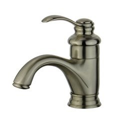 Barcelona Bathroom Faucet with Single Handle Lever in Brushed Nickel Finish