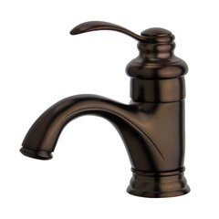 Barcelona Bathroom Faucet with Single Handle Lever in Oil Rubbed Bronze Finish