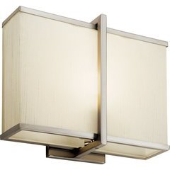 Rigel 1 Light Wall Sconce Matte White Acrylic 18W - Satin Nickel
