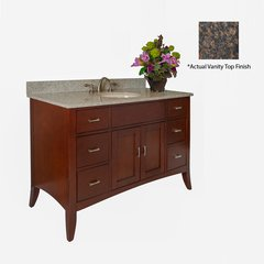 "48"" Metro Single Sink Vanity w/ Brown Top - Brown Cherry"