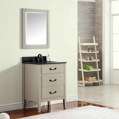 "25"" Delano Single Vanity - Taupe Glaze w/ Black Top"